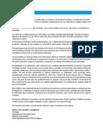 Carta de Bienvenida - Evaluacion Psicologica