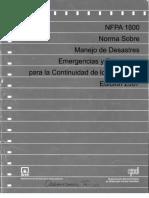 NFPA 1600 Norma Sobre Manejo de Desastres, Emergencias y Programas para la Continuidad de los Neg.pdf