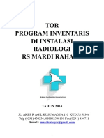 Tor Program Infentaris Peralatan Radiologi