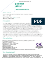 Machinery Series - Machinery Directive - HSL