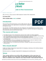 HSE Inspectors' Guide to Risk Assessment - HSL