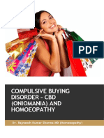 Compulsive Buying Disorder and Homoeopathy