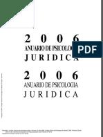 Anuario de Psicología Jurídica. Volumen 16. Año 20... ---- (Pg 2--21)
