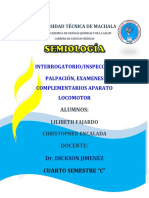Semiología Del Aparato Locomotor Informe 1