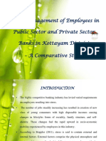 Stress Management of Employees in Public Sector and Private Sector Banks in Kottayam District  – A Comparative Study