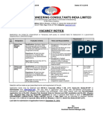 Notification BECIL Patient Care Manager Patient Care Coordinator Posts