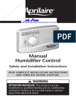 Aprilaire 60 Owners Manual | Relative Humidity | Hvac