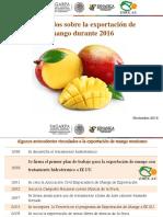 Resumen Exportación Mango 2016