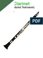 Musical Instruments Clarinet