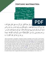 Ayat Tentang Matematika