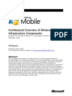 Windows Mobile Architectural Overview of Infrastructure Components