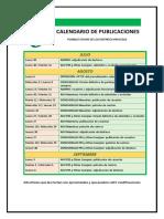 Calendario Publicaciones Verano 2018