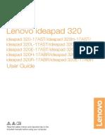 Lenovo ideapad 320-17AST&ABR User Guide - Etilize