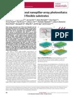 3-D Nanopillar-Array PV on Low -Cost..