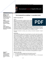 Environmental Accounting -A Conceptual Study