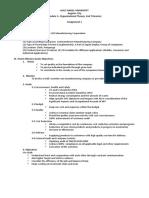 Assignment 1-2 - Organization Brief, Org. Eff - Policarpio