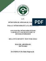 Relative Density Test Report