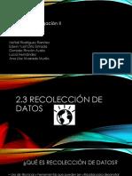 Presentación Taller de Investigacion II recolección de datos
