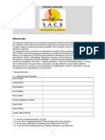 SACE Provider Guidelines
