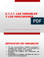 6.1.1.7. Las Variables y Los Indicadores