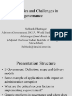 Opportunities and Challenges in Egovernance