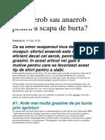 Efort Aerob Sau Anaerob Pentru a Scapa de Burta