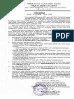 Pengumuman Seleksi Administrasi CPNS Kab. Kudus 2018