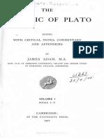 Adam Plato the Republic 1 1902
