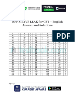 RPF SI LIVE LEAK for CBT – English Answer and Solutions