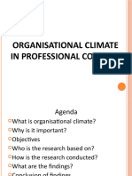 Organisational Climate in Professional Colleges