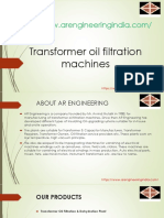 Industrial Oil Purification Systems| Transformer Oil Filtration Plant| industrial  of industrial oil purification units| Trickle Varnishing Machine|vacuum pressure impregnation plants- AR Engineering