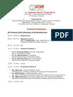 Technical Programme CoSS 2015 Feb25