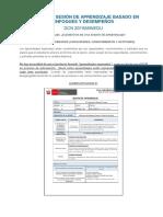 Modelo de Sesión de Aprendizaje Basado en Enfoques y Desempeños