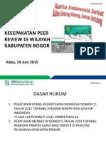 Sosialiasi Peer Review Kab Bogor (2)