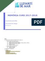 Escola Llevantí de Mar - Memòria 2017-18