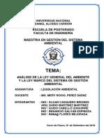 Grupo 2 Ponencia Analisis de La Ley de Gestion Ambiental Posgrado Undac - Pasco 2018