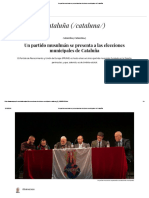 Un Partido Musulmán Se Presenta a Las Elecciones Municipales de Cataluña