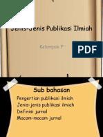 Jenis-Jenis Publikasi Ilmiah