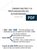 EL PREDOMINIO MILITAR Y LA PROFUNDIZACIÓN DEL AUTORITARISMO