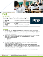 FCE Listening lesson plan