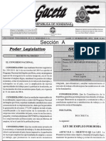 ley de empleo por hora Tegucigalpa Honduras