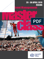 Festival and Event Management Masterclass Regina 2019