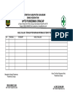 7.1.2.2 Format Bukti Evaluasi Pelaksanaan Audit Klinis