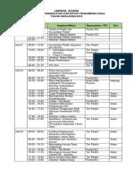 2 Jadwal Acara Pelatihan PD 2018