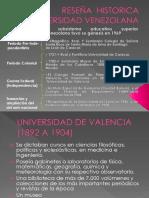 Reseña histórica de la Universidad Venezolana