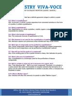 Chemistry Viva-Voce PDF