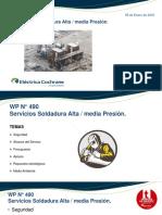 Presentación de Paquete de Trabajo Mantencion Cocharane U1. Trabajo de Cambio de Valvulas de Alta Presion