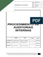 5.6.1 Procedimiento de Auditorias