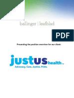 Executive Position Profile-CEO at JustUs Health