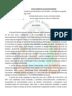 Relatório Escola Primitiva de Azevedo Moraes